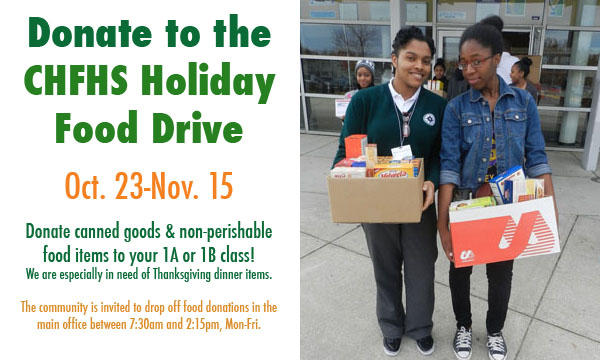 CHFHS Holiday Food Drive Competition – Count #1