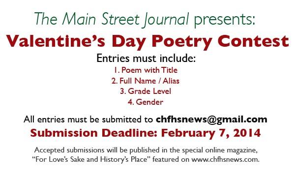 Valentine's Day Poetry Contest