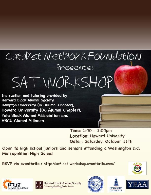 SAT Prep Workshop Set for Oct. 11 at CHFHS