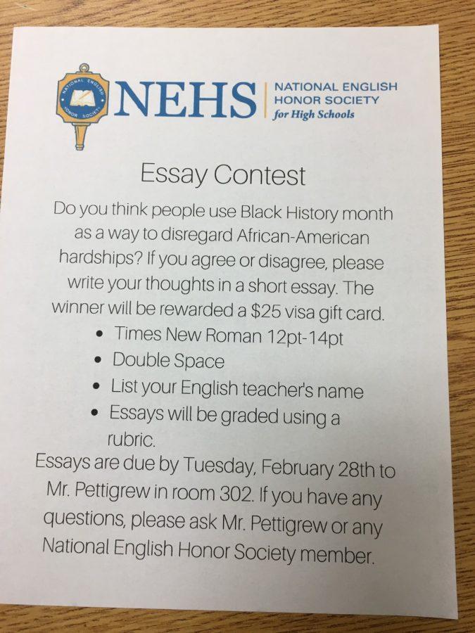National+English+Honor+Society+Essay+Contest