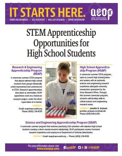 Summer STEM Opportunities for Students