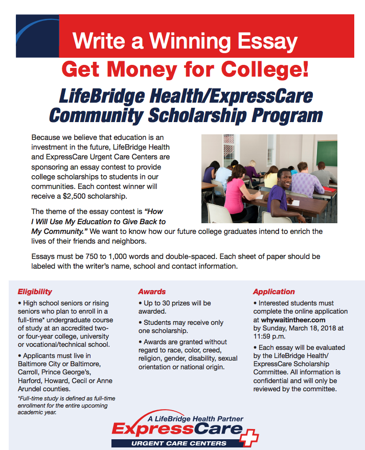 LifeBridge Health and ExpressCare Scholarship Opportunity