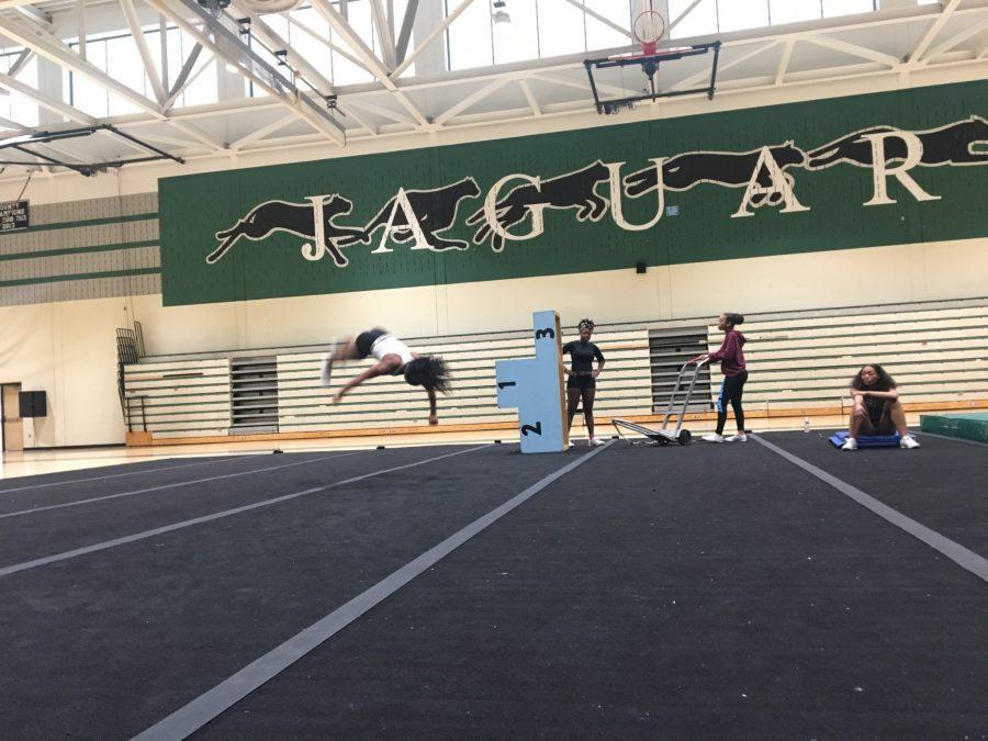 Cheerleading practice