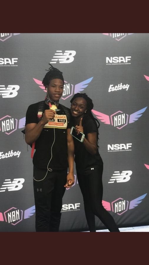 Brandon Tunson and Dejah Grant at the 2018 New Balance Nationals