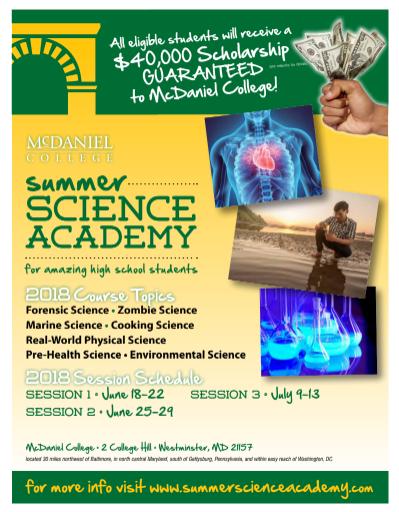 McDaniel College Summer Science Academy