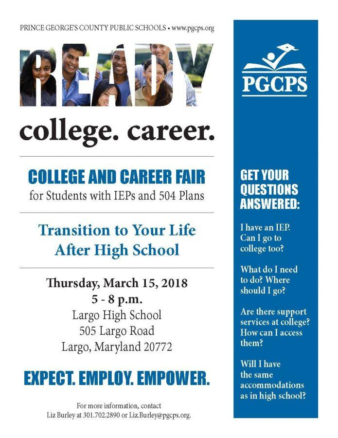 College and Career Fair for Students with IEP's and 504 Plans