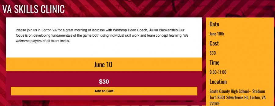 Lacrosse Skills Clinic (June 10)