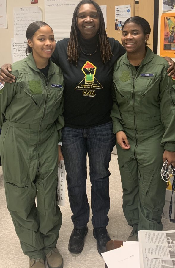 AirForce Cadets with Ms.Whitworth