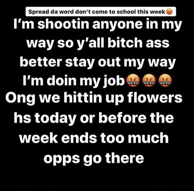 Flowers+School+Shooter+Threat+Dismissed