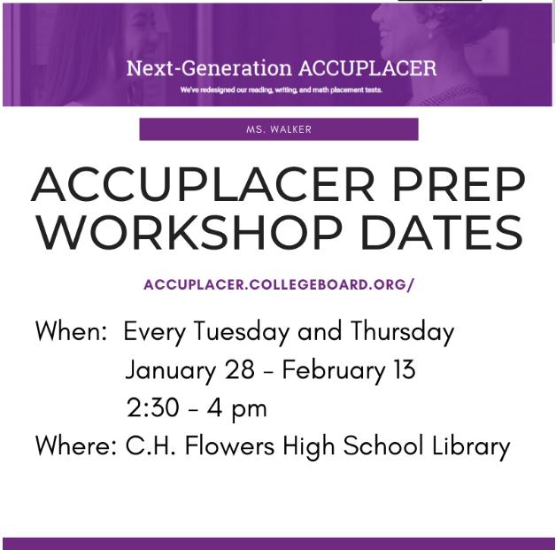 Accuplacer Prep Workshop