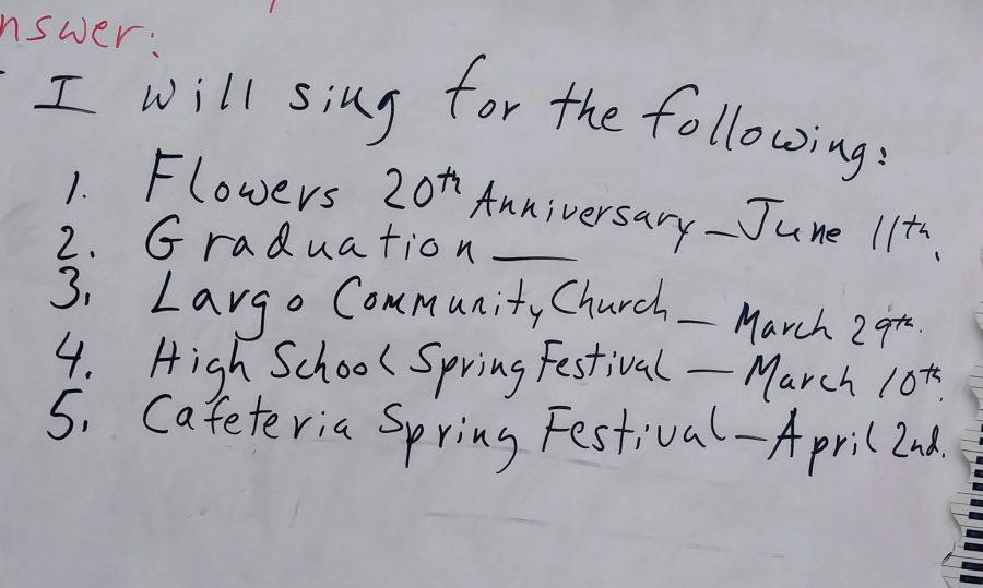 Concert Choir Scheduling 2020