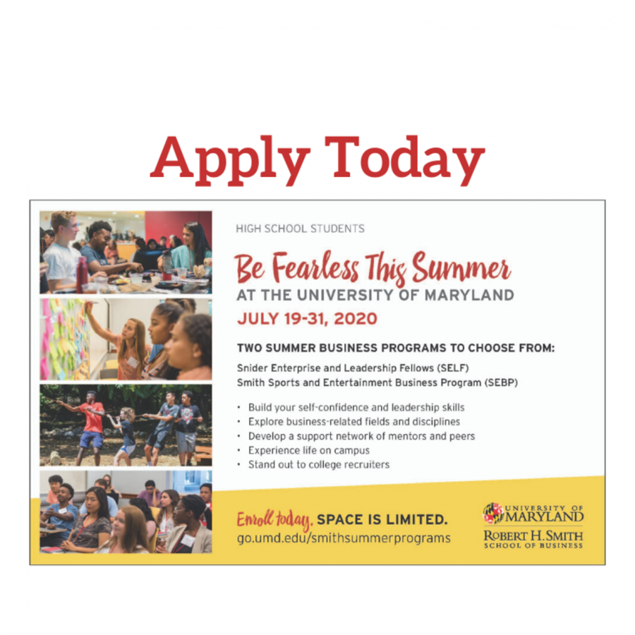 APPLICATIONS NOW OPEN for University of Maryland Summer Programs for High School Students