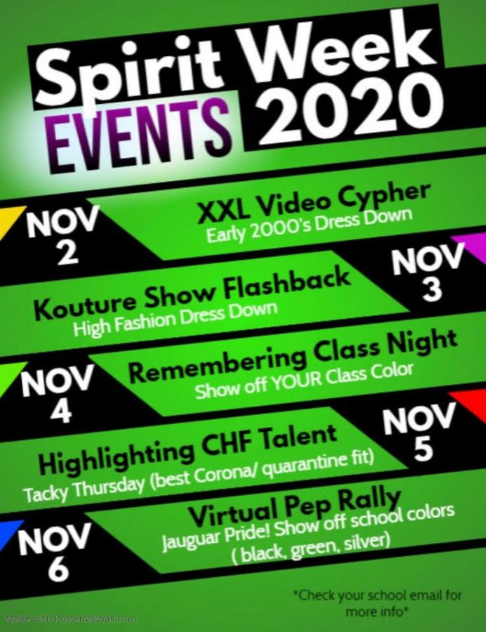 Spirit Week of School Year 2020-2021