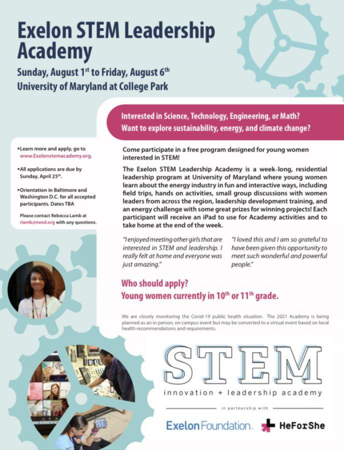 Exelon STEM Leadership Academy Flyer