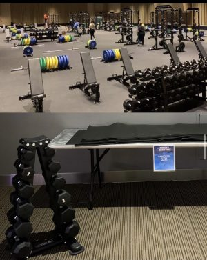 The difference between the Men's and Woman's  Women weight rooms