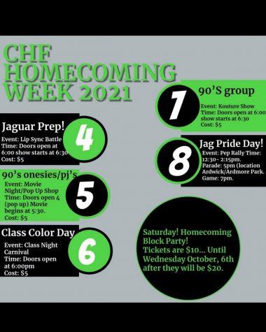 Spirit Week Schedule 10-4-2021