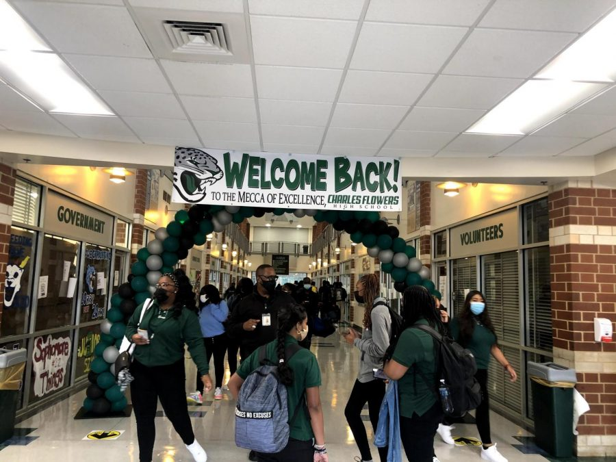 Students at Charles Herbert Flowers High School embark on a journey as they begin their 2021-2022 school year whilst trying to follow COVID-19 guidelines and safety protocol