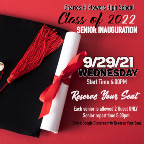 Infographic about the senior inauguration.